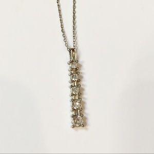 Jewelry - Dainty 5 Stone Silver Necklace